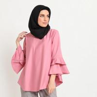 Hijab Ellysha BALLERINA RUFFLE BLOUSE PINK