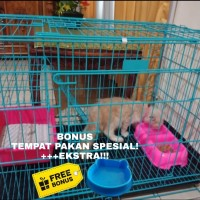 Kandang Kucing Kelinci JUMBO XL Size 80×57×50 Tingkat Besi Tebal