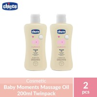 Chicco Baby Moments Massage Oil 200ml Twinpack