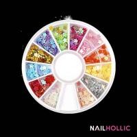 colorful floral nail wheel / nail decoration / nail art kuku