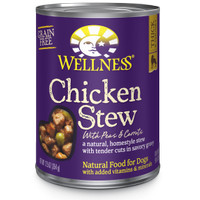 Wellness Chicken Stew with Peas&Carrot Canned Dog Food Makanan Anjing