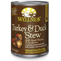 Wellness Turkey Duck Stew with Cranberries Can Dog Food Makanan Anjing