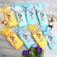 souvenir handuk ulang tahun Alanna 2/hampers/tasyakuran/aqiqahan
