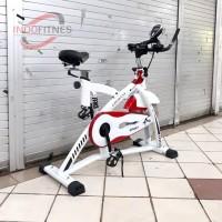 Sepeda Statis Spinning Bike Putih Total Fitness