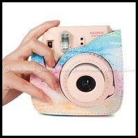 Fujifilm Leather Bag Polaroid Instax Mini 8 & 9 Tas Rainbow Case