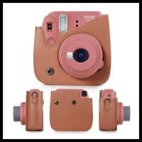 Fujifilm Polaroid Instax Mini 8 / 9 Leather Bag / Tas / Case - Brown