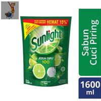 SUNLIGHT JERUK NIPIS 100 isi 1600ML(SABUN CUCI PIRING BAGUS MURAH)