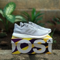 6334961e4bbc3 sepatu lari running adidas pureboost DPR LTD grey original murah