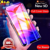 Tempered Glass Redmi Note 7 9D Full Glue Curve Anti Gores Kaca Warna