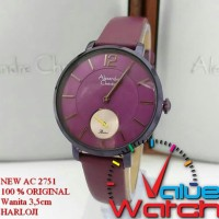 Jam Tangan Wanita Alexandre Christie AC 2755 Purple Black Original