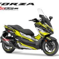 Decal stiker Honda Forza 250 supersport maxi black yellow