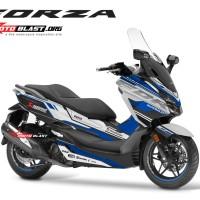 Decal stiker Honda Forza 250 supersport maxi white blue