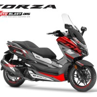 Decal stiker Honda Forza 250 supersport maxi grey red
