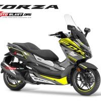 Decal stiker Honda Forza 250 supersport maxi grey yellow