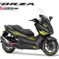 Decal stiker Honda Forza 250 BLACK WINGS YELLOWLIME TIDAK FULLBODY