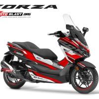 Decal stiker Honda Forza 250 supersport maxi black red