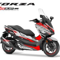 Decal stiker Honda Forza 250 Supersport maxi white red