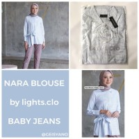 Nara Blouse Lights Clo Baby Jeans Size M