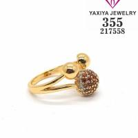 Cincin Permata lapis emas perhiasan imitasi 355