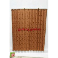 Gorden Plisket Kawat SABATAO LEBAR 185 x TINGGI 150
