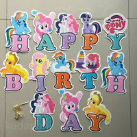 Jual Banner Happy Birthday Kartun My Little Pony Kuda Poni Kota Bekasi Kudaponi Tokopedia