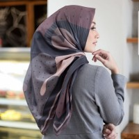 hijab voal ultrafine premium mylady queen brown asli