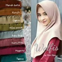 Bergo Wolfis / Jilbab cantik murah untuk remaja / Wolfeach
