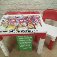 Meja Belajar Anak Plastik Set Akako / Karakter