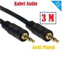 KABEL AUDIO JACK 3.5 mm 3M GOLD PLATED - KABEL AUX 3 METER