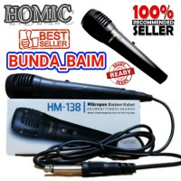 HOMIC MICROPHONE KABEL HM138 / MIC KARAOKE SPEAKER HM 138