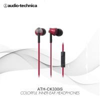 Audio-Technica ATH-CK330iS RD ( EX ) RED