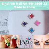 Bindi-BD-1806-22-Stiker Body Art-Hiasan Dahi Kuku-3D Nail Art-India