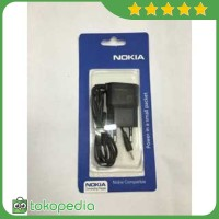 OEM Charger Nokia N95 Lubang / Ujung Kecil - Hitam -H2687