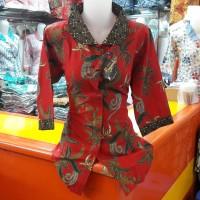 Blouse Batik kode 0404 / Batik Kerja Lengan 7/8 / Blus Kantor