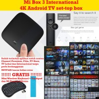 Xiaomi Mi Box 3 Internasional MDZ-16-AB FullApp Free Wireless Keyboard
