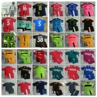 Baju Kaos Futsal/Bola Anak Junior Nike Adidas Puma + Nama Nomor