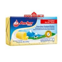 Anchor Unsalted Butter 227 GR Halal Enak Import New Zealand Premium
