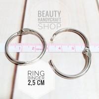 [2.5 cm ] Ring bussybook craftbook ring binder buka tutup