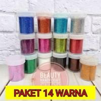 Paket glitter pot 20ml murah meriah mix warna