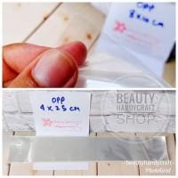 [isi 50] Plastik kaca 4x25 cm tanpa perekat