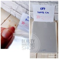[isi 50] Plastik kaca 10x12 cm tanpa perekat