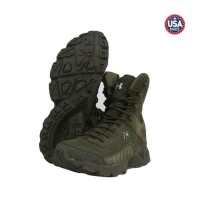 LEX098 Sepatu Under Armour 8 Inch Boots Hijau Tactical Safety Army -