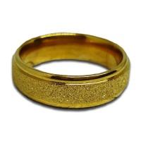 Cincin Pasir Emas Gold - Perhiasan Titanium Stainless Steel - TC030