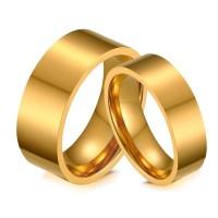 Cincin Couple Emas Premium - Perhiasan Titanium Stainless Steel - TC07