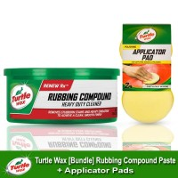 Turtle Wax [BUNDLE] RUBBING COMPOUND PASTA + APPLICATOR PADS