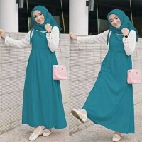 Maxi Dress Baju Muslim Gamis Tunik 3in1 Wakanda Tosca Ta7.1813