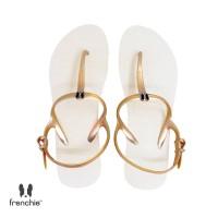 Sandal Wanita Frenchie Strappy Gold Beige SFS01