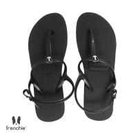 Sandal Wanita Frenchie Strappy Black SFS02