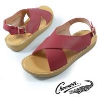 LR-3107-13 Sandal Wanita Women Shoes Crocodile Original - Merah