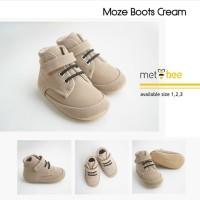 Prewalker Shoes Moze Boots Milo / Moze Boots Cream - Sepatu Bayi